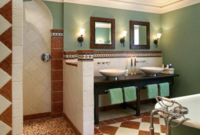Bild Badezimmer im mediterranen Wohnstil.