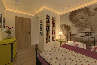 Bild Schlafzimmer im Landhausstil.