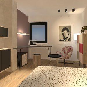 Bild Lady-Singlesuite, Wohnbereich. Design atelier Adi Sachs