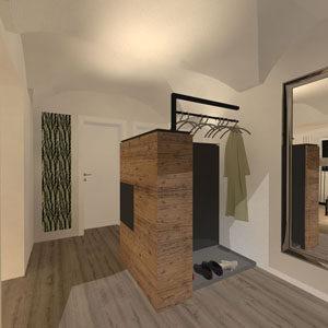 Im modernen Landhausstil gestaltete Inneneinrichtung einer ALtbau-Kleinwohnung.