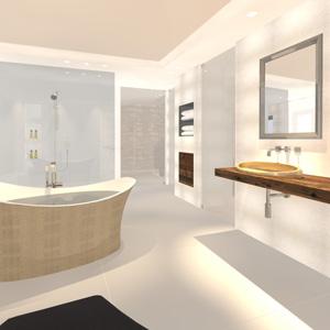 Abbildung einer luxuriösen Badezimmergestaltung.