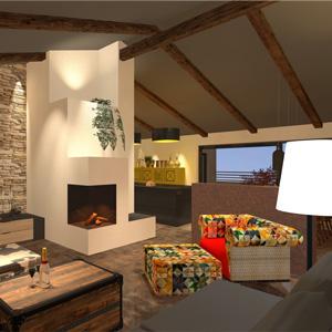 Abbildung offene Wohnraumgestaltung in einem Penthouse