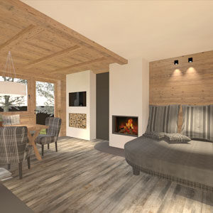 Abbildung, Wohnzimmer im modernen Landhausstil